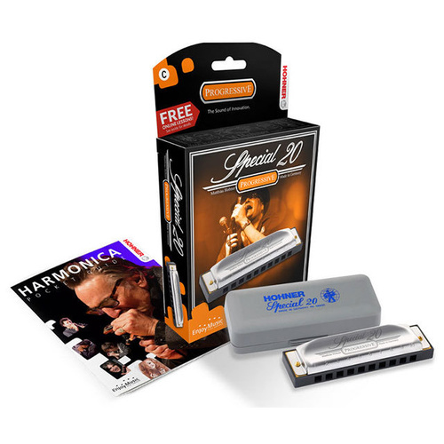 Hohner Progressive Series Special 20 Harmonica in the Key of B