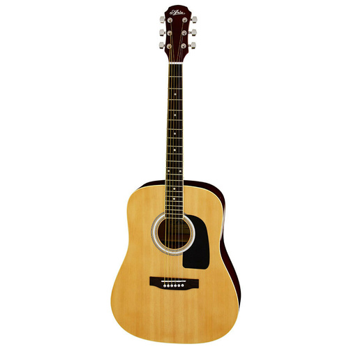 Aria ARAW15N AW-15 Dreadnought Acoustic Guitar in Natural Gloss
