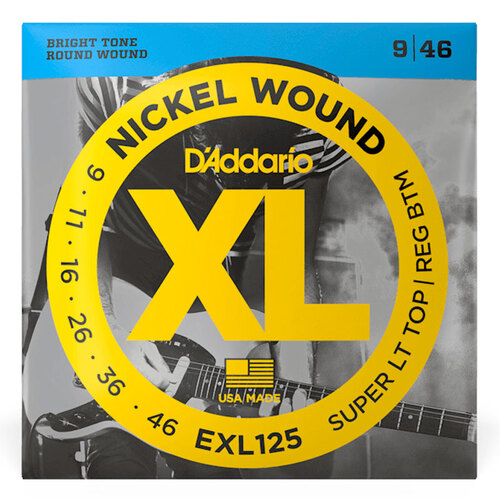 D'Addario EXP125 .09-.46 Coated Electric Guitar Strings