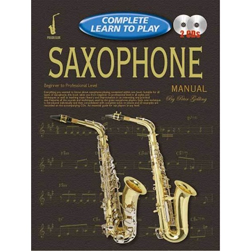 Progressive Complete Learn To Play Saxophone Book/CD(2)