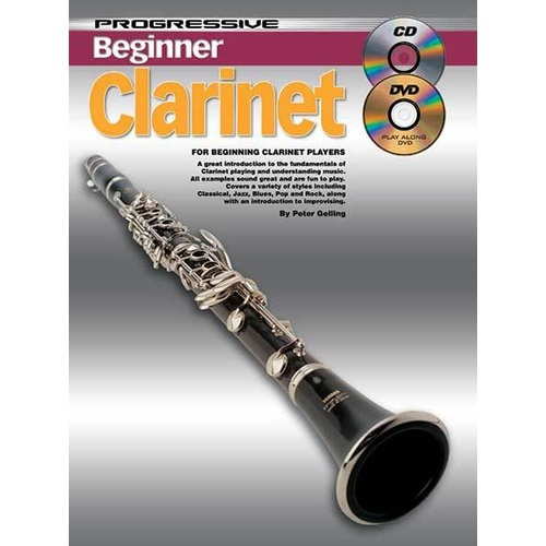 Progressive Beginner Clarinet Book/CD/DVD