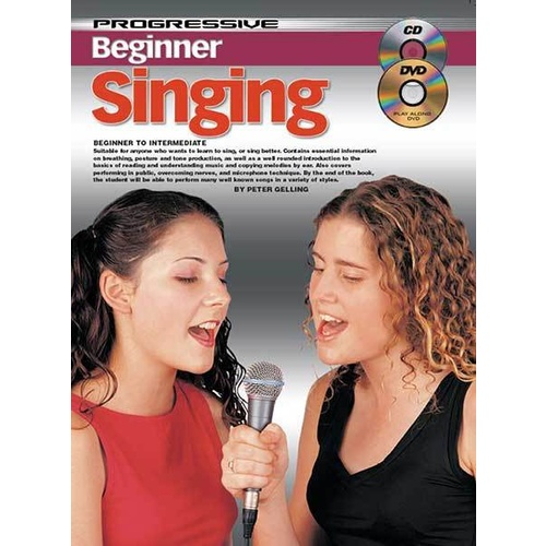 Progressive Beginner Singing Book/CD/DVD