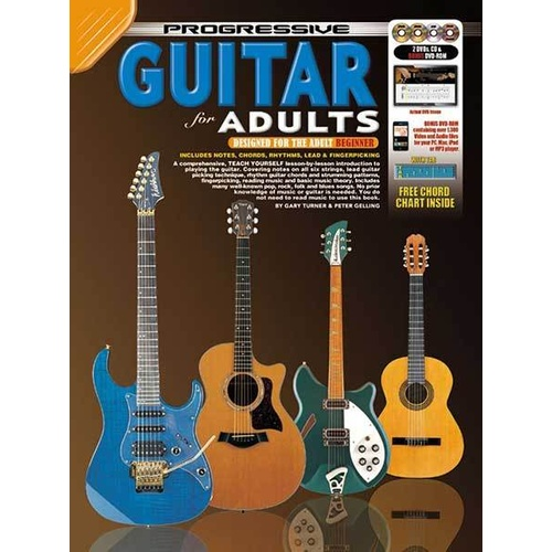 Progressive Guitar for Adults Book/CD/DVD(2)/DVD-Rom