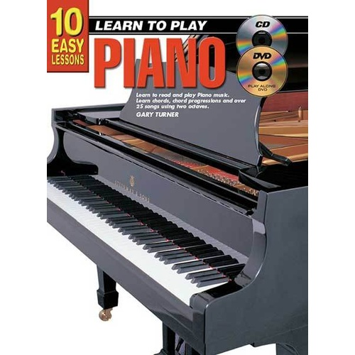 10 Easy Lessons Learn To Play Piano Book/CD/DVD