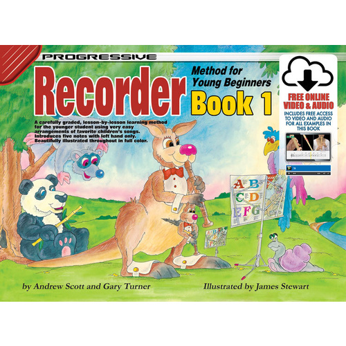Progressive Recorder Book 1 for Young Beginners Book/Online Video & Audio