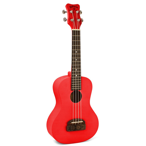 Kohala Series Concert Ukulele in Red with Natural Satin Finish