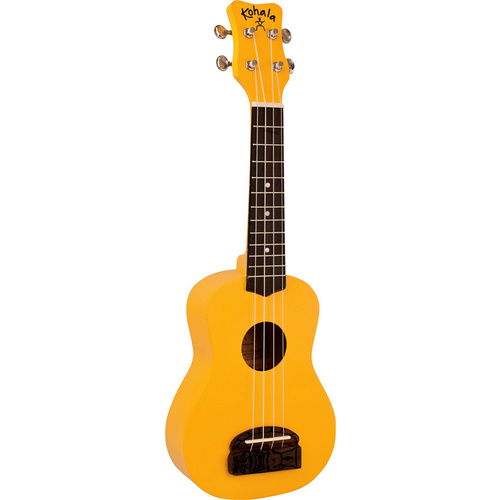 Kohala Series Concert Ukulele in Yellow with Natural Satin Finish