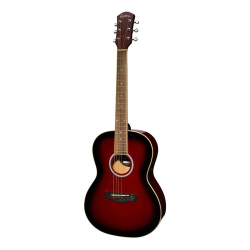 Martinez Small Body Folk Acoustic Guitar - Wine Red
